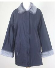 M&S Black Jacket with Faux Fur Collar & Cuffs - Size 12 - Marks and Spencer Coat