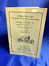Indy Indianapolis 500 Vintage 1929 CHEVROLET RACING Engines & Parts Catalog WOW!