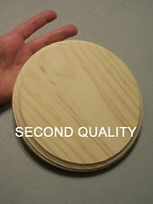 "M00194 MOREZMORE Unfinished 7"" Round Wood Base Wooden Plaque Stand SECONDS A60"