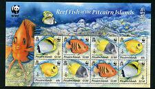 Pitcairn Islands 2010 MNH Reef Fish WWF 8v M/S Marine Chaetodon Centropyge