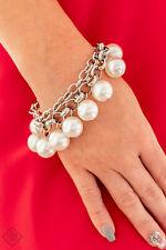 Paparazzi Jewelry oversized white pearls chunky silver chain Bracelet