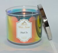 NEW BATH & BODY WORKS BLACK TIE SCENTED CANDLE 3 WICK LARGE 14.5 OZ HOLOGRAPHIC