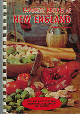 FAVORITE RECIPES OF NEW ENGLAND 1965 WOMEN'S CLUBS COOK BOOK NH CT MA ME VT RI