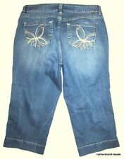 JAG JEANS Capris Womens PLUS 18W 18 W Faded Wash Denim Cropped Capri Crop