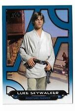 2017 Topps Star Wars Galactic Files Reborn Blue Parallel Anh-10 Luke Skywalker