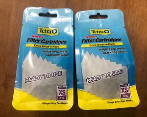 Tetra Whisper XS Filter Cartridges Extra Small Tetra AQ Keeps Water Clean 8 Pack