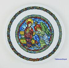 "8.5"" Plate, Noel Vitrail Christmas, Mint! D'Arceau Limoges, The Annunciation"