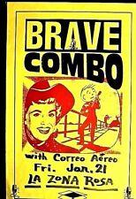 BRAVE COMBO & CORREO AERO -LA ZONE ROSA AUSTIN - LATE 80S HAND LETTERED RARE