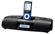 JVC RA-P1B Altavoz Portátil  Ipod Iphone 3Gs Radio FM, Reloj