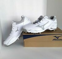 Mizuno MENS 9-Spike Advanced Classic 7 Low Metal Cleats White/Gray 12.5M NEW