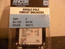 Carling 5 Amp Single Pole White Toggle Breaker Marine (NEW)