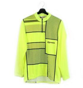 70s 80s GONSO vintage cycling jersey t-shirt rad neon sweatshirt W Germany M L