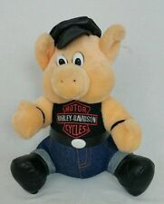 Harley Davidson Motorcycles Plush Toy Biker Hog EUC 11 INCH (approx) Collectible