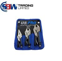 "US PRO 3pc Soft Grip Locking Pliers Set 6.5, 7, 10"" Mole Grips Vice Clamp 2074"