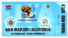 Ticket San Marino - Slovenia 14.10.2009