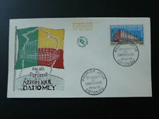 palace of president 3 years of independance FDC Dahomey 1963