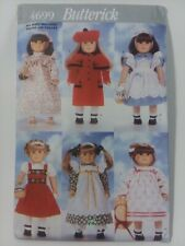 Butterick 4699 18 inch DOLL Clothes 6 outfits sewing pattern UNCUT