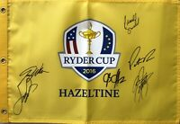2016 US Ryder Cup Team autographed signed golf flag Fowler Reed Spieth Walker +2