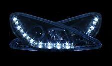 Peugeot 206 Hatch & CC 98-02 Black DRL Devil Angel Eyes Front Headlights Lights