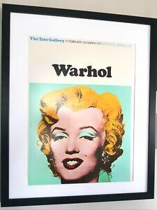 Andy Warhol Luxury Framed Marilyn Monroe Print/Banksy/LARGE