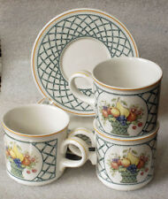 VILLEROY & BOCH BASKET 3 cups and saucers GERMANY