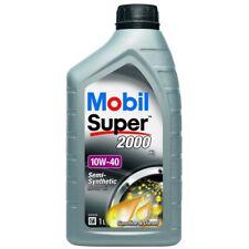 5 x Mobil Super 2000 X1 10W-40 Semi Synthetic 1L Car Engine Oil Lubricant 151188