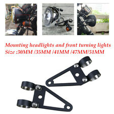 Motorcycle Cafe Racer Fork Headlight Mount Bracket Holder 4mm steel material