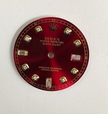 Rolex Men's Datejust Quickset Candy Red Custom 8+2 Diamond Dial 2-T