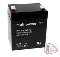 1 x Multipower Blei Akku MP5,4-12 12 V / 5,4 Ah