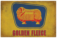 GOLDEN FLEECE MOTOR OIL TIN SIGN DUO  20 x 30cm
