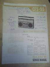 s l225 sony cfs in manuals & resources ebay  at nearapp.co