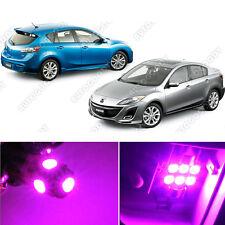 8 x Premium Hot Pink LED Lights Interior Package Kit for Mazda 3