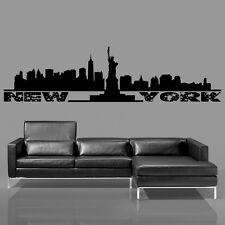 Nueva York Skyline Y estatua de la Libertad - Adhesivo Pared salón recibidor