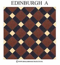 DOLLS HOUSE MINIATURES,DOLLS HOUSE TILES &.FLOORING.EDINBURGH (A) FLOOR TILES