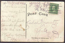 ABERDEEN S DAKOTA 1909 NORMAL INDUSTRIAL SCHOOL YALE RFD HAND CANCEL POSTCARD