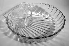 Heisey - No. 1503 Crystolite Shell Salad Bowl with Dressing Trough