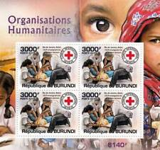 INTERNATIONAL RED CROSS Humanitarian Charity Stamp Sheet #4 of 5 (2011 Burundi)