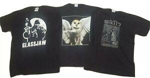 METAL Shirt Lot DEFTONES SIKTH GLASSJAW Size Small Lamb of God Meshuggah Tool