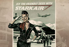 Incorniciato stampa-starkair AIR hostess PIN UP (foto poster arte aereo Ironman)