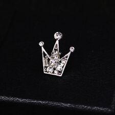 Crown Women & Men Shirt Suit Accessory Gift Collar Clip Shirt Hollow Brooch Pin