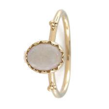 Authentic PANDORA Soft Sweetness Ring, White Opal & 14K Gold 150169WOP-54