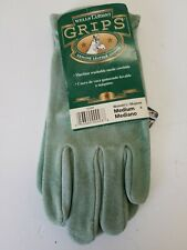 Wells Lamont Leather Work Gloves Grips Washable Suede Cowhide Womens Sz M NWT