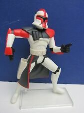 star wars RED ARC CLONE TROOPER ACTION FIGURE clone wars animated 2005 0348