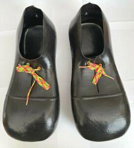 Vintage Rubies Giant Black Clown Shoes Halloween Costume Play