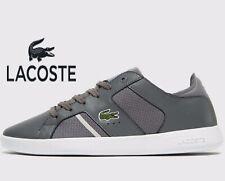 🔥2019 Lacoste Novas 318 2 SPM Leather ® ( Men All Size: 7 -12 ) Light Dark Grey