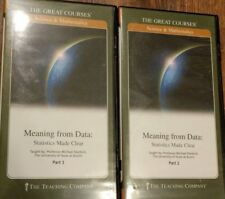 The Great Courses: Meaning From Data: Statistics Made Clear Part 1&2 Book + DVDs