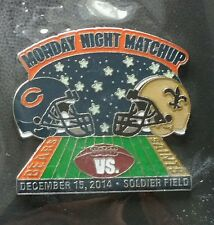 CHICAGO BEARS VS NEW ORLEANS SAINTS GAME DAY PIN 12/15/2014 BRAND NEW PIN