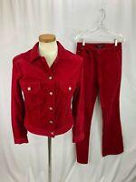 Billy Blues Red Corduroy Jacket Pant Set M 6