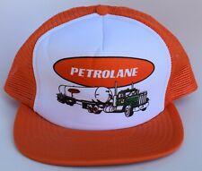 Petrolane Trucker Baseball Cap Hat One Size Snapback Mesh Flat Bill Vintage