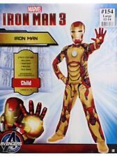 Iron Man Mark 42 Costume Child Size Large 12-14 Bodysuit Mask 2-Piece Marvel New